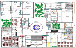 Museum Architecture Layout and Structure Details dwg file