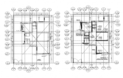 Museum building plan detail 2d view layout file