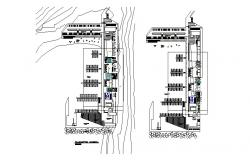 Nautical club general layout plan cad drawing details dwg file