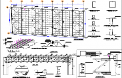 Nave industrial plant constructive details dwg file