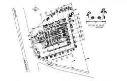 Nave industrial plant distribution plan cad drawing details dwg file