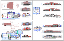 Navyug club houses and spa architecture project dwg file