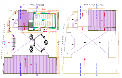 Nest garden layout plan dwg file