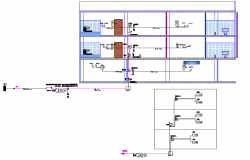 Network connection Pipe line house detail dwg file