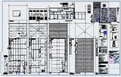 Rain water collection system architecture project dwg file