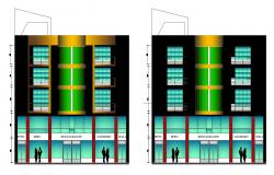 Night club elevations in autocad