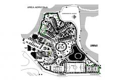 Nils luxuries resort distribution plan cad drawing details dwg file