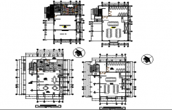 North direction Commercial plan detail dwg file
