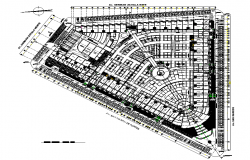 North direction Market layout plan dwg file
