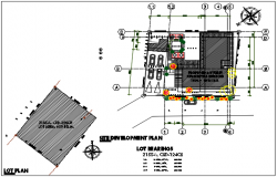 North direction commercial plan working plan detail dwg file