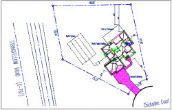 North direction plot stated in detail dwg file
