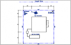 North direction plot stated in tank detail dwg file