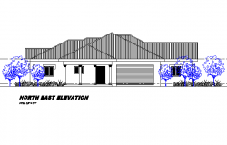 North elevation house autocad file