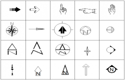 North mark and symbol Arrow detail dwg file