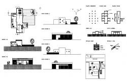 Nursery pre-school elevation, section, plan and auto-cad details dwg file