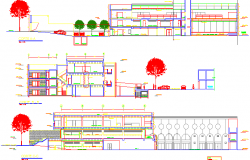 Office 2d elevation details dwg file and building design