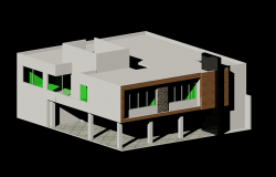 Office 3d plan elevation view dwg file