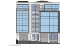 Office Building Elevation Design DWG File