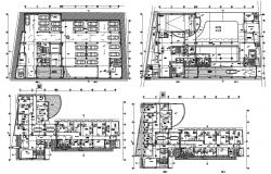 Office Building Plans DWG File