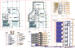 Office Building Project detail dwg file