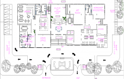 Office Commercial building plan layout plan detail dwg file