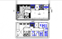 Office Commercial plan and toilet plan detail dwg file