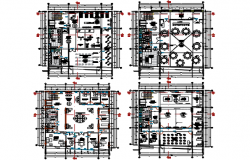 Office Commercial working plan detail dwg file
