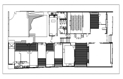 Office Construction Layout Plan dwg file