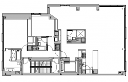 Office Design Elevation dwg file