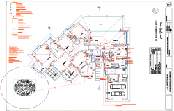 Office Electrical Installation plan dwg file