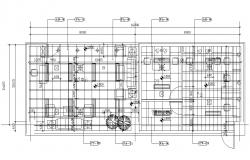 Office Flooring Plan AutoCAD Drawing Download