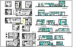 Office Layout plan with Detailing dwg file