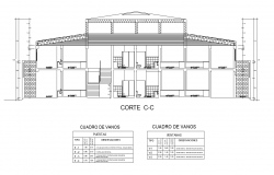 Office Section C-C' detail dwg file