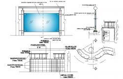 Office Table Design AutoCAD File