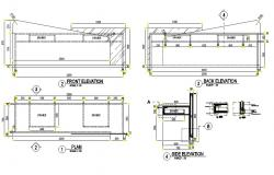 Office Table Drawing AutoCAD File