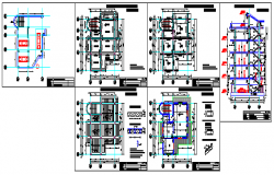 Office and apartment building  design drawing