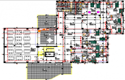 Office and seminary center architecture layout plan details dwg file