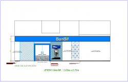 Office area elevation view dwg file