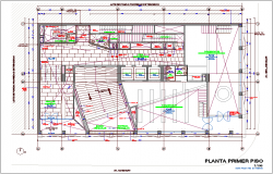 Office area first floor plan dwg file