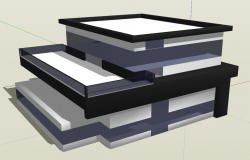 Office building 3d view skp file