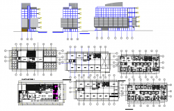 Office building and gallery dwg file