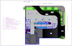 Office building architectural first floor plan dwg file