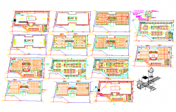 Office building detail in dwg files