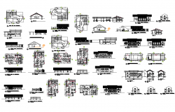Office building elevation, section, plan and auto-cad details dwg file