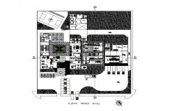 Office building first floor distribution plan cad drawing details dwg file