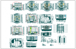 Office building floor electric plan  layout detail view dwg file