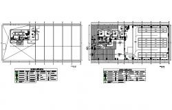 Office building ground floor, first floor and auto-cad details dwg file