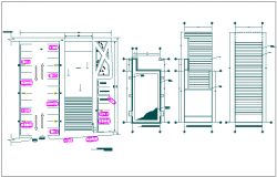 Office building ground floor detail view dwg file