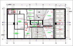 Office building ground floor plan view detail dwg file
