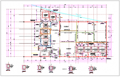 Office building plan design detail dwg file